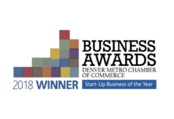 2018 winner of Start-Up Business of the Year from the Denver Metro Chamber of Commerce